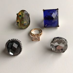 Jewelry - Lot of 5 Cocktail Rings
